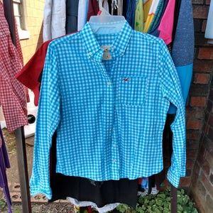 Long sleeve button up Hollister shirt